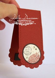 Julie's Stamping Spot -- Stampin' Up! Project Ideas by Julie Davison: French Foliage Bookmark Card