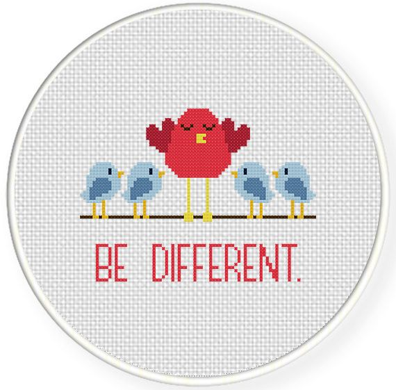 FREE Be Different Cross Stitch Pattern