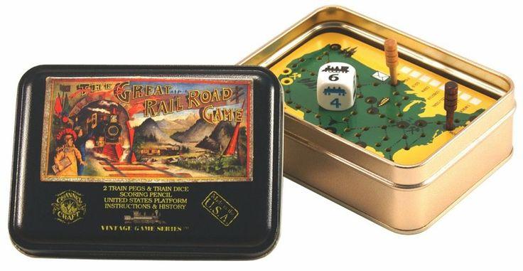 Great Railroad Vintage Game Tin