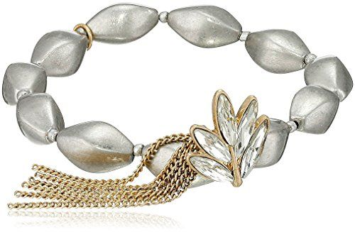 Sam Edelman Crystal Charm Stretch Bracelet