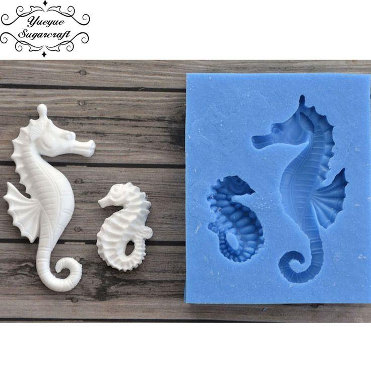 Yueyue Sugarcraft Sea Horse silicone  mold fondant mold cake decorating tools chocolate gumpaste mold
