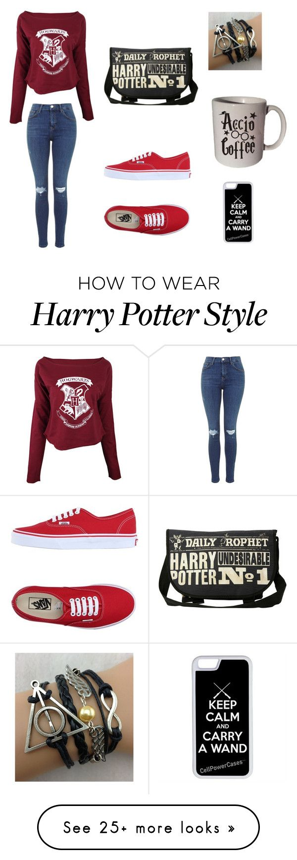 """""""Harry Potter is my life"""" by kaylamarie-01 on Polyvore featuring Vans and CellPowerCases"""