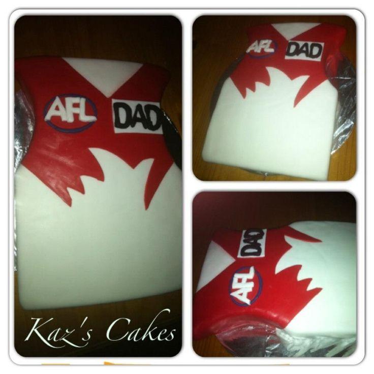 AFL Sydney Swans Guernsey #Cake.