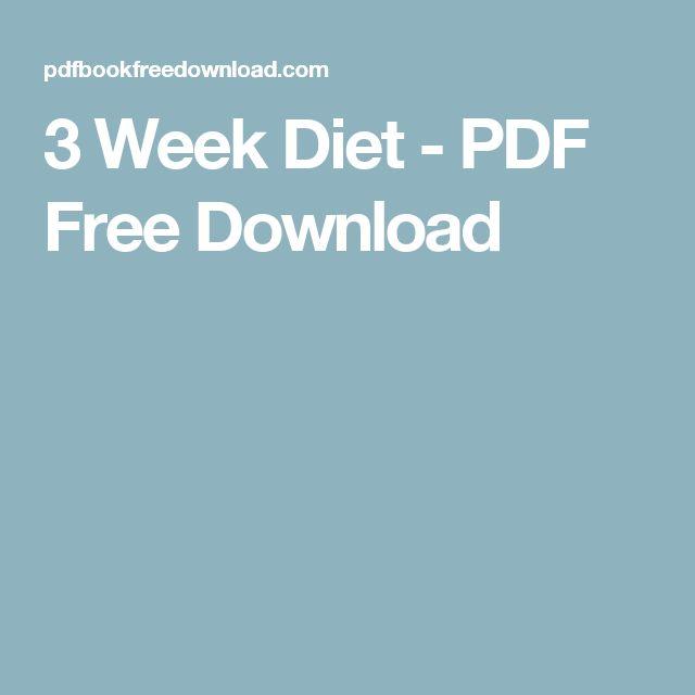 3 Week Diet - PDF Free Download