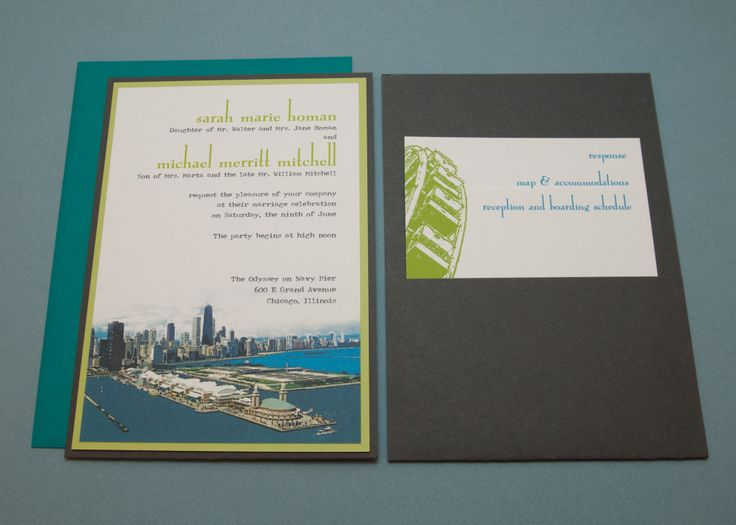 Spilled Ink Press | Chicago Wedding Invitations: Vintage Post Card Vibe Of  Navy Pier For