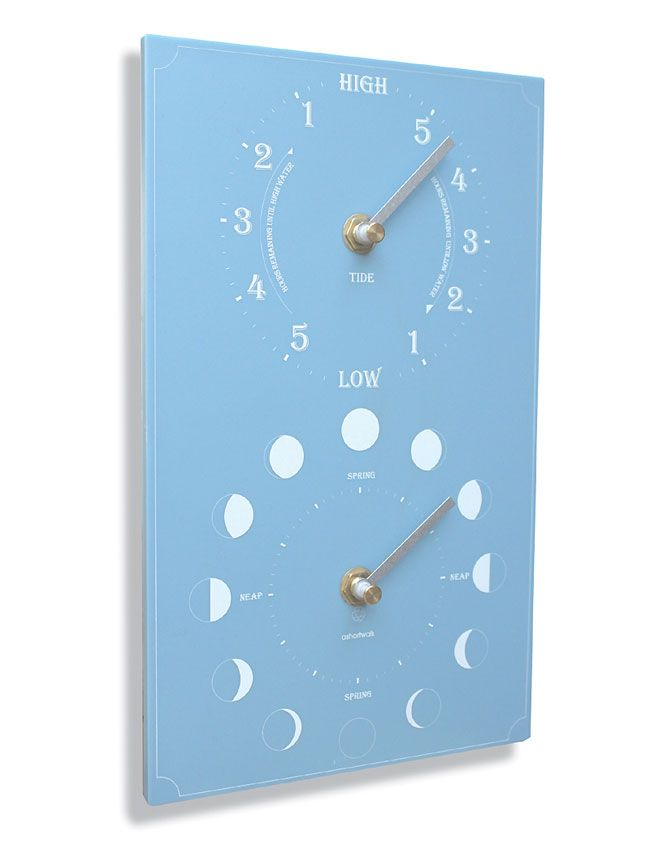 This moon and tide clock is made from recycled yogurt containers.