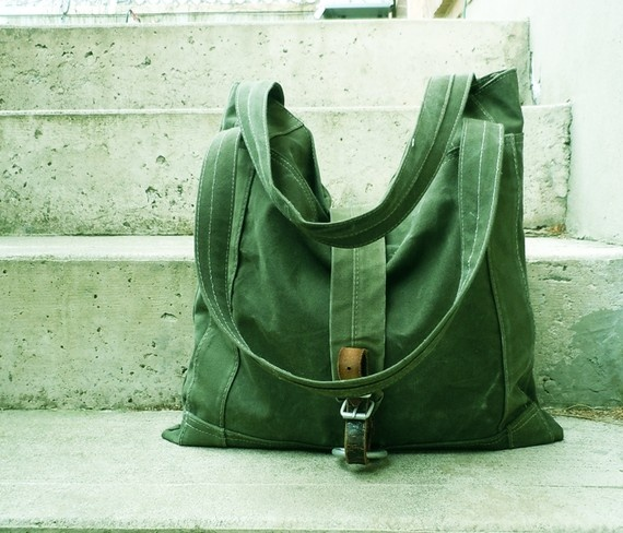Tote Bag - Recycled Army Canvas