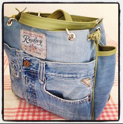 jeans taschen n hen pinterest denim bag bag and upcycling. Black Bedroom Furniture Sets. Home Design Ideas