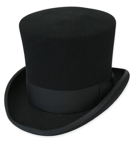 Top Hat - Upside down, put in a small bottle of alcohol and a small flask. Gifts for the Grooms man that double for use in the wedding! =)