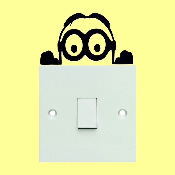 43 best light switch stickers images on pinterest wall art decal minion light switch stickers wall art decal stickers quality new sciox Gallery