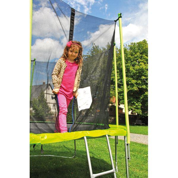 Eduplay, Trampolin 305 cm niedriger Einstieg Riesen-Trampolin mit Sicherheitsnetz in peppigem Grün | copy_170284 / EAN:4260372711768