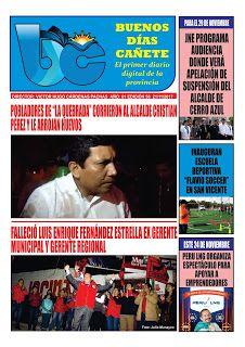 buenosdiascanete.blogspot.com: Diario Digital BUENOS DIAS CAÑETE, edición 21 novi...