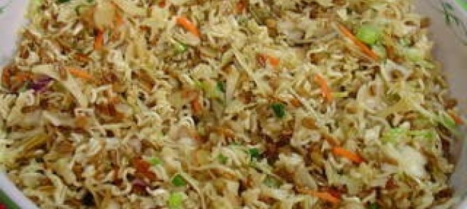 Pinterest recipe I have tried- Part 5- Ramen Noodle Salad