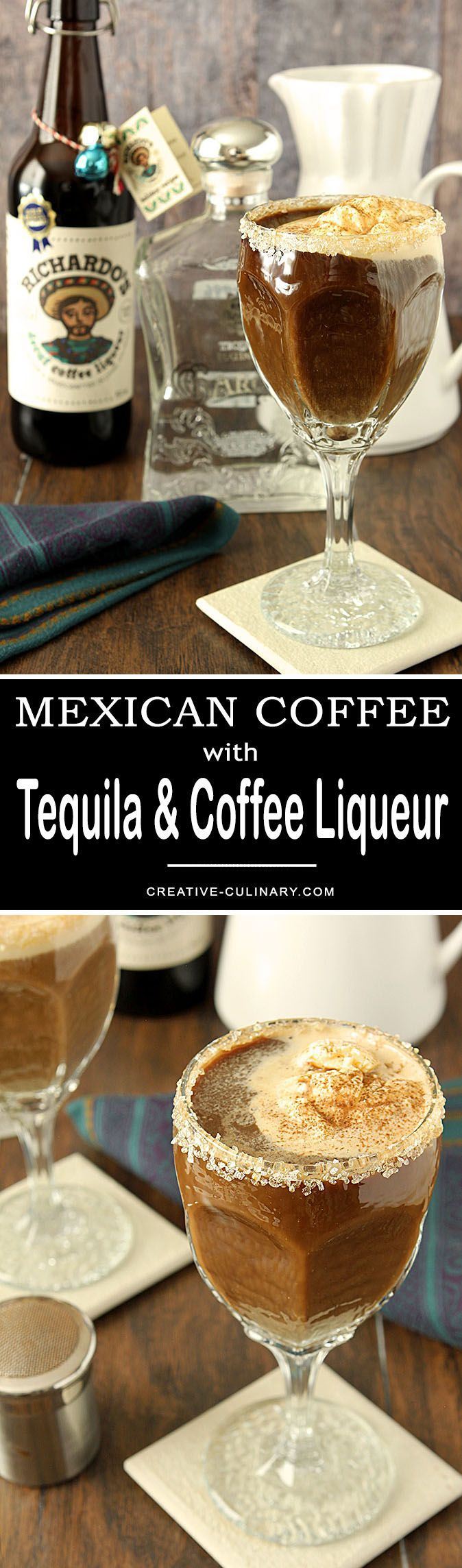 No trip to Cabo San Lucas necessary; now you can make this iconic Mexican Coffee with Tequila and Coffee Liqueur at home! via @creativculinary