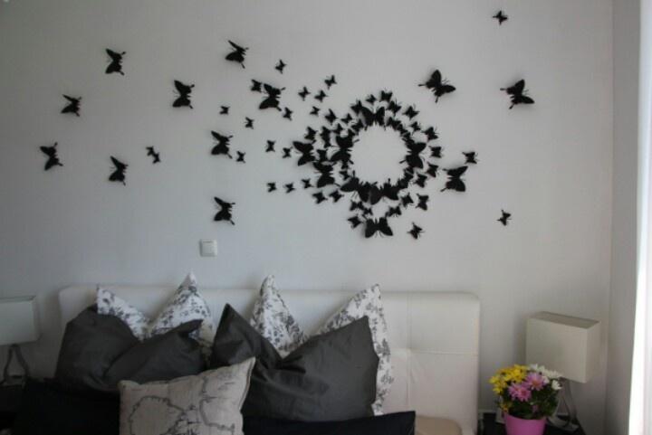 Black Butterfly Wall Decor Gossip Girl : Diy gossip girl butterfly wall art dorm room