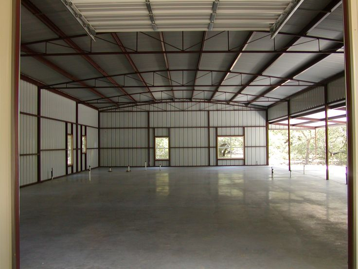 Metal building before buildout