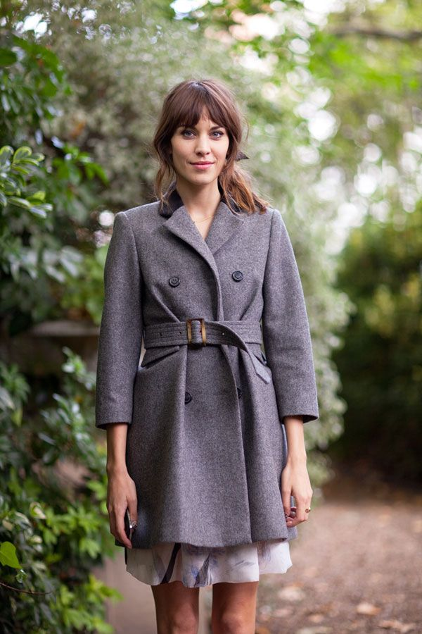 STREET STYLE SPRING 2013: LONDON FW - Alexa Chung gets cinched in