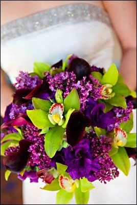 Purple And Green Bouquet This Is Exactly What I Want Now Kind