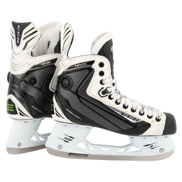 CCM RibCor 44K LE White Sr. Ice Hockey Skates - Senior Ice Hockey Skates - Hockey Skates - Equipment