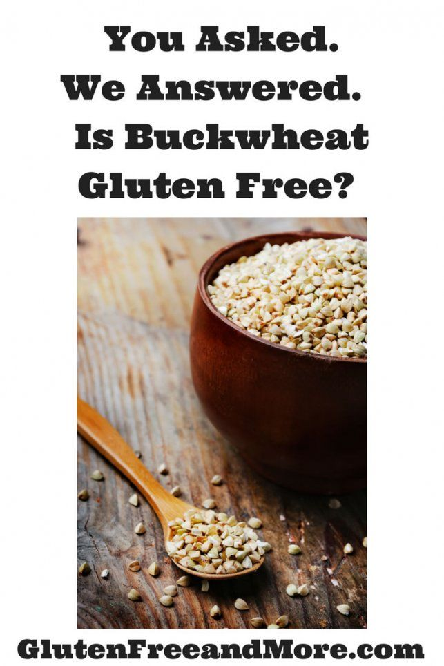 is buckwheat gluten free?