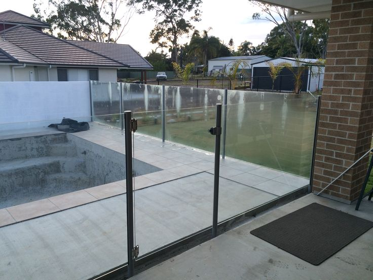 Semi frameless glass pool fence installed by Northside Fencing at Burpengary