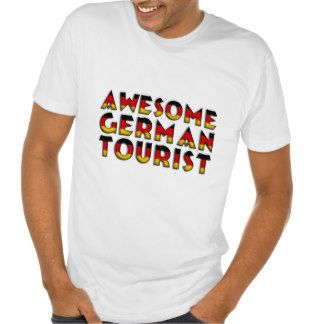 Funny Awesome #German Tourist Flag Typography T Shirt #travel #tourist #funnyshirt #Germany