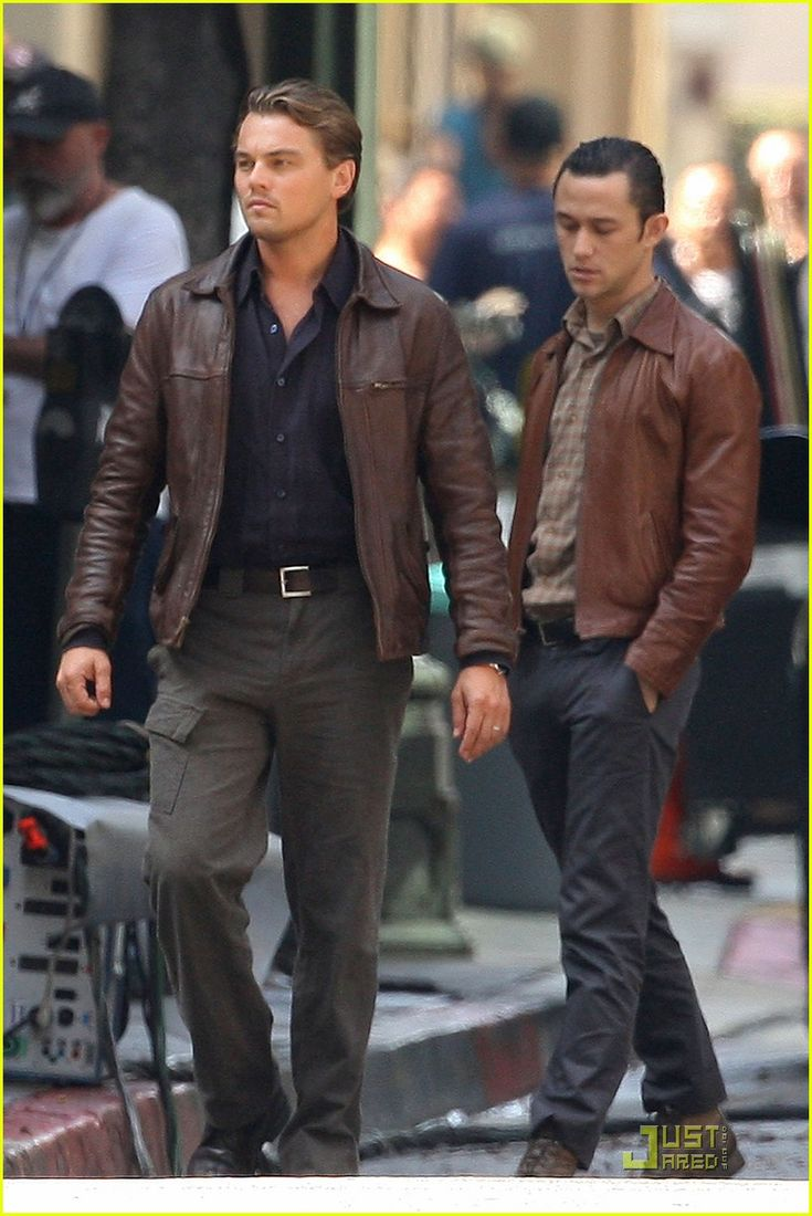 oh for the love of sexy, look at these two - leonardo dicaprio and joseph gordon-levitt