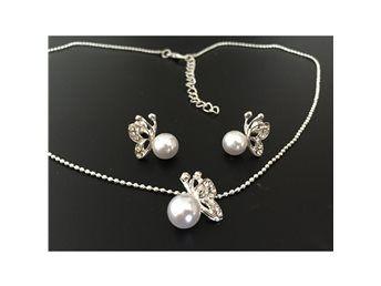 smyckeset halsband och örhängen  nytt modernt fint fräckt