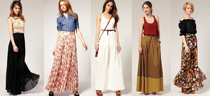 Maxi skirt - Collage