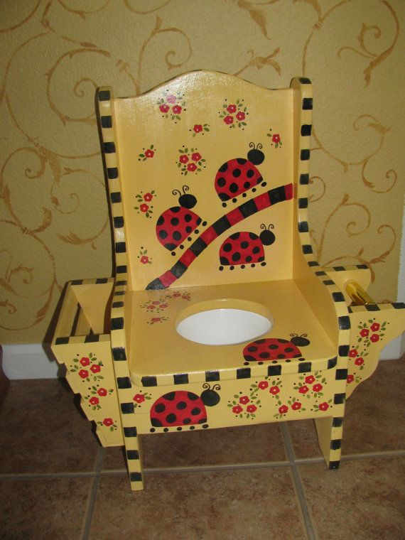 Children's Potty Chair  Ladybug  Magazine holder and by bubee, $75.00