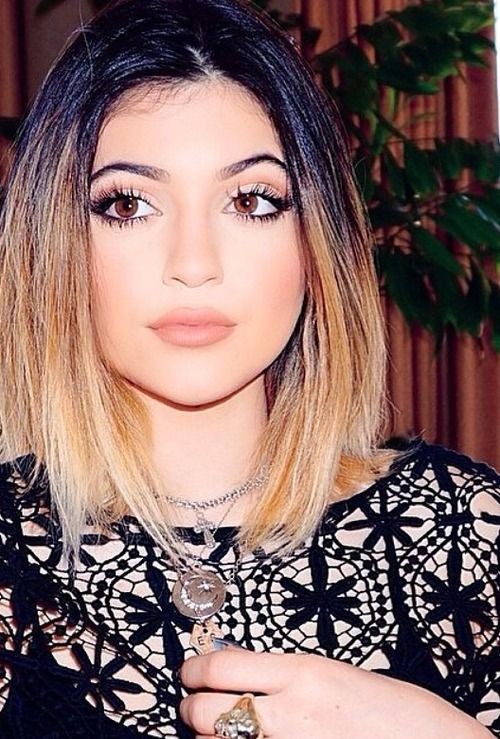 Ombre with dark dark roots to blonde! I love this, hoping my hair can turn out with this kind of color