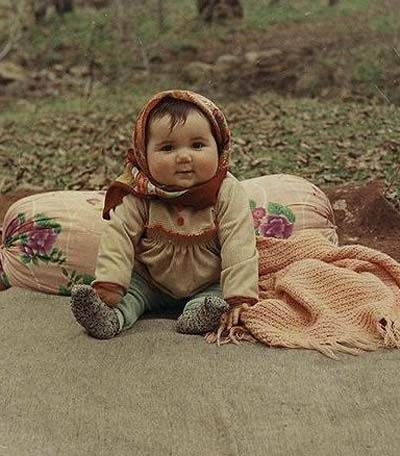 babushka baby - just hanging out in the forest