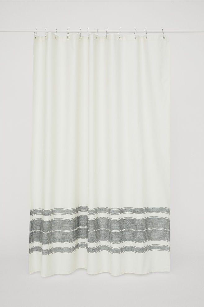 Cotton Shower Curtain Modern Shower Curtains White Shower