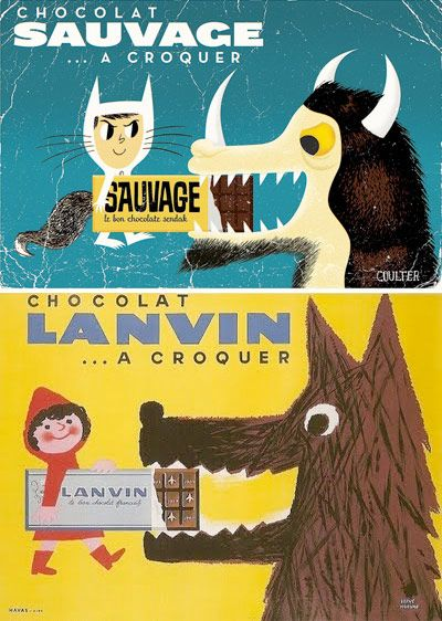Chocolat Sauvage packaging (Wild Things and Red Riding Hood).