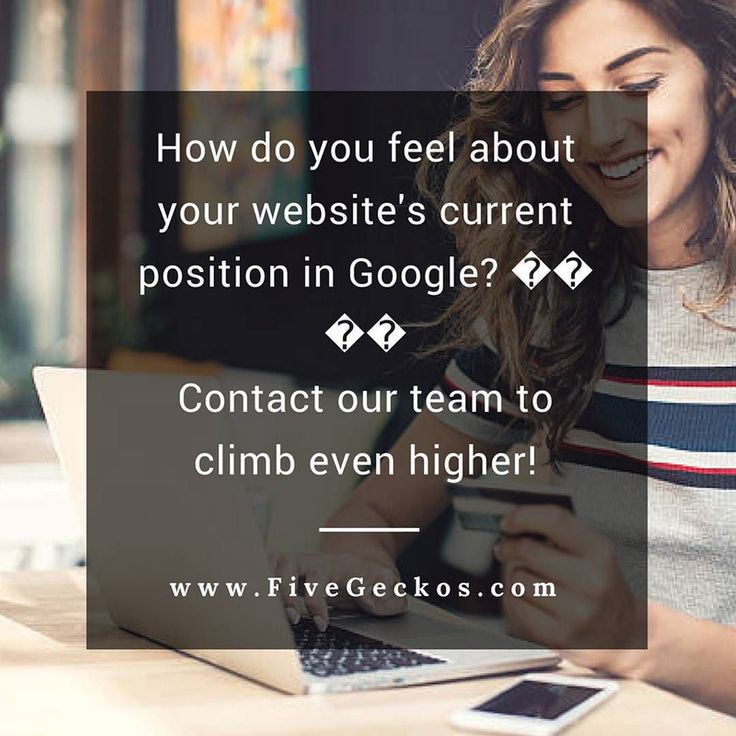 How do you feel about your website's current position in Google?   Contact our team to climb even higher!  ==> We're just one click ahead ==> http://ift.tt/2r9WEwY ______________________________________________________ #Online #Marketing #OnlineMarketing #Digital #BusinessGrowth #BusinessTips #Entrepreneurship #SEO #SMM #FiveGeckos #onlinemarketing #Hertfordshire #BusinessTips #digital #agency #consultant #support #supportlocal #sme #smb #startup #startups #Local #Broxbourne #Cheshunt…