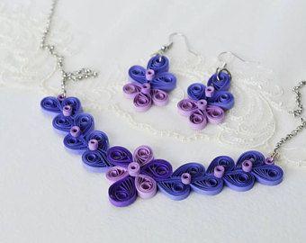 Idea de regalo único aniversario de papel para regalo de aniversario 20 de mujer para las mujeres, establece 15 aniversario collar y pendientes de joyería de la boda