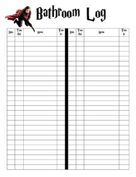 Bathroom Sign Up Sheet 92 best managing bathroom trips images on pinterest | classroom