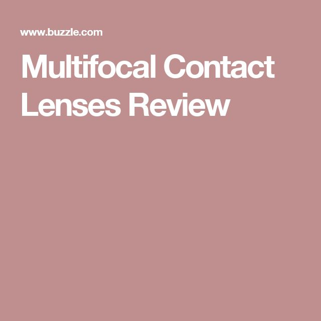 Multifocal Contact Lenses Review