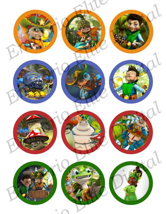 """INSTANT DOWNLOAD Tree Fu Tom Printable Party 2"""" Circle for Cupcakes, Hats, Favors, Toppers, Stickers, Decorations"""
