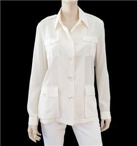 RALPH LAUREN Collection Silk Safari Jacket, Sz 12