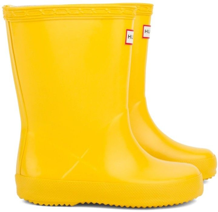 Hunter First Yellow Wellington Boots on shopstyle.co.uk