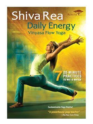 Shiva Rea: Daily Energy--Vinyasa Flow Yoga - Really like this DVD - 20 min. yoga workouts for AM & PM