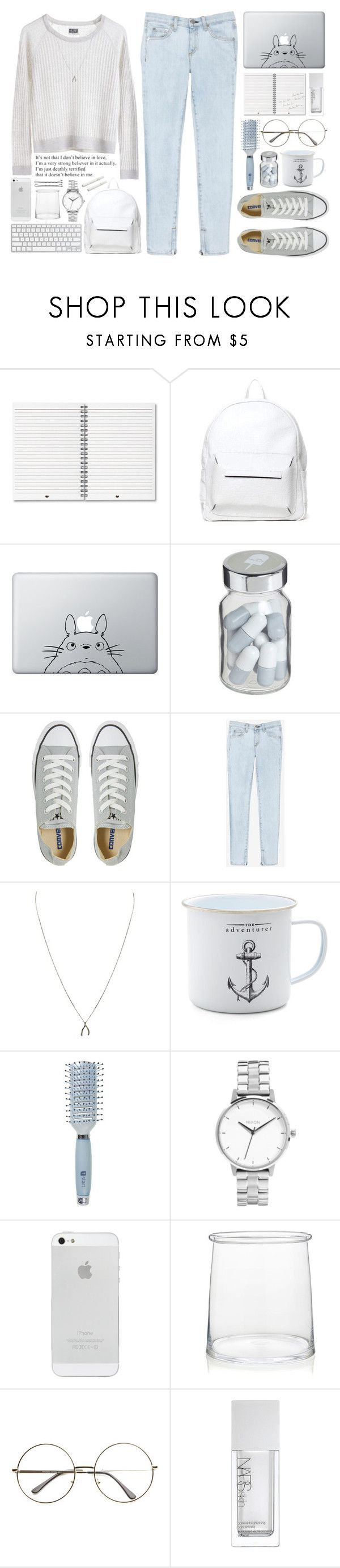 """""""Right here right now"""" by tania-maria ❤ liked on Polyvore featuring Asya Malbershtein, Humör, Vita, MTWTFSS Weekday, Converse, rag & bone/JEAN, Ziba, Goody, Nixon and Crate and Barrel"""