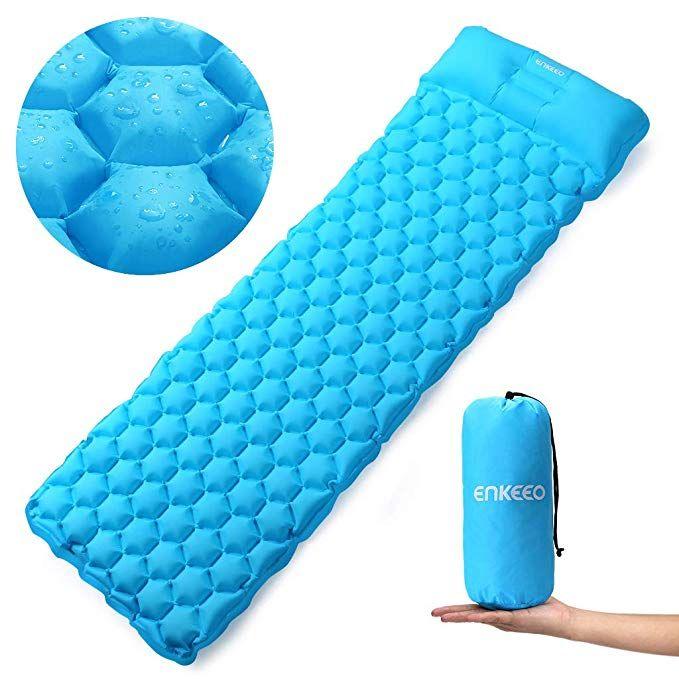 Ultralight Air Sleeping Pad Inflatable Camping Mat Backpacking Traveling Hiking