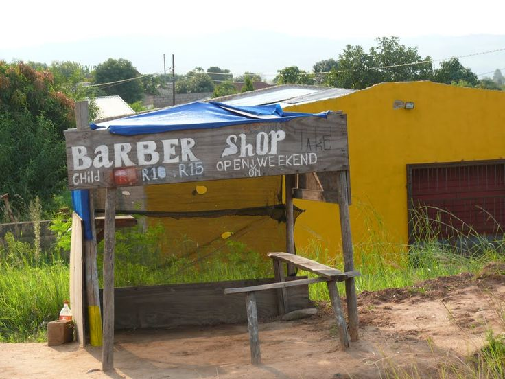 South Africa; Roadside Business; Barber Shop not far from Hazyview