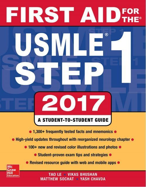 First Aid for the USMLE Step 1 2017 27th Edition Pdf Download For Free - By Tao Le,Vikas Bhushan,Matthew Sochat First Aid for the USMLE Step 1 2017