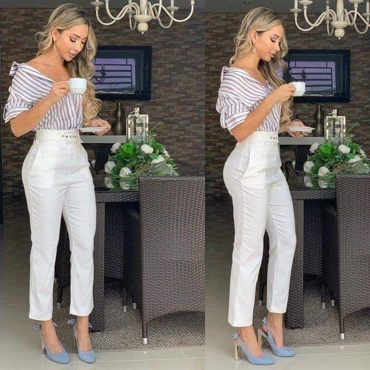 Outfit Juvenil Formal Oficina Pantalones De Vestir Mujer Pantalones De Moda Mujer Ropa De Moda
