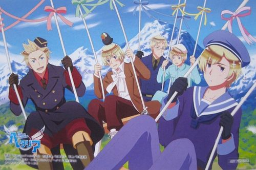HETALIA THE WORLD TWINKLE | HETALIA SEASON 6 | OFFICIAL ART IM GONNA CRY WITH LAUGHTER ((Denmark looks so...happy))