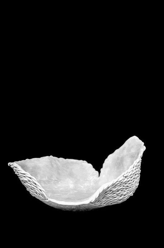 talerz ceramiczny pleciony KWIAT PAPROCI by agakubish