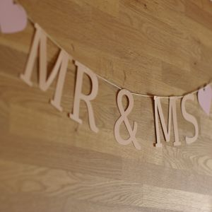 Felirat girland – Mr&Ms paper word garland – Mr&Ms